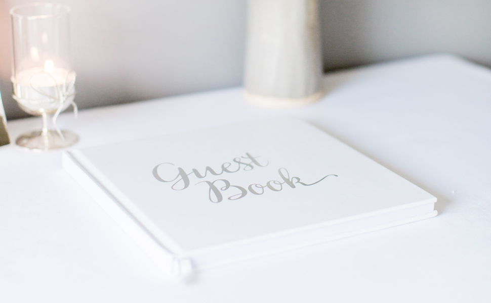 silver guest book