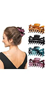 4 Colors Barrette Claw Hair Clips