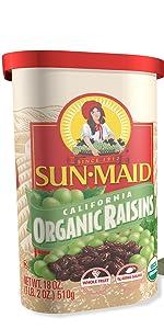 Organic Raisins Canister
