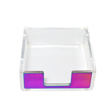 sticky notes holder memo note pads small tray  paper clips dispenser desk accessories organization