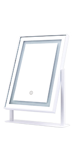 White makeup mirror with lights