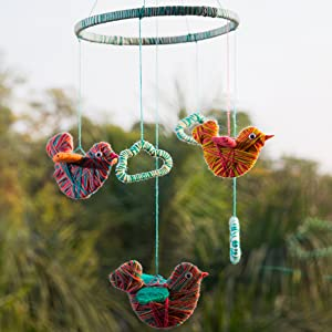 Chalk and Chuckles Art & craft supples,Yarn Bird Room Hanging decor for girls 8 and up
