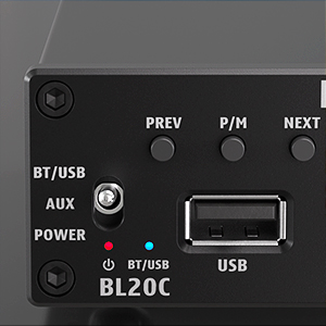 Bluetooth 5.0 Stereo Audio Receiver Amplifier 2.1 Channel Mini Hi-Fi Class D Integrated Amp