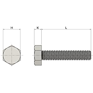 """5/16-18x5"""" Stainless Steel Hex Head Screws Bolts"""
