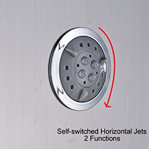 shower tower with jets