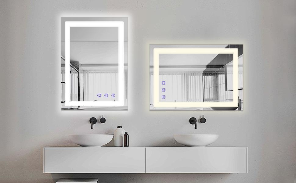 Wandspiegel Bad mit Touch-schalter