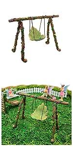Fairy garden accessories supplies furniture tools swing figurine kids boy girl