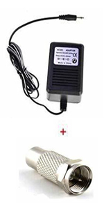 Power Adapter with F Plug Female Adapter for Atari 2600