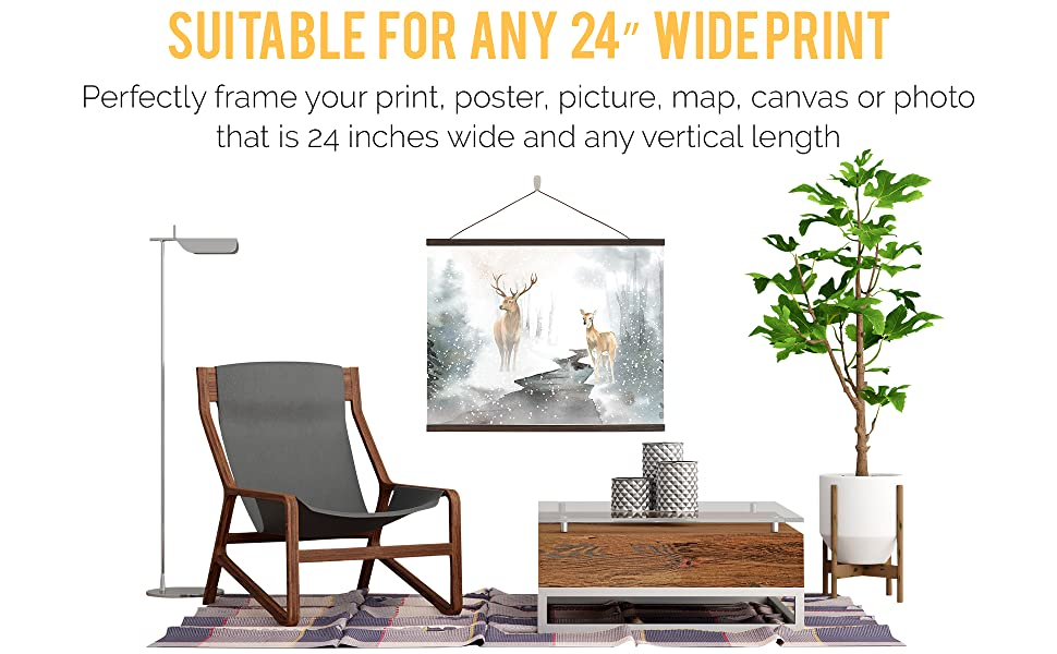 Best frame for 24 inches wide print