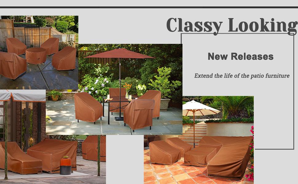 Patio furniture cover set