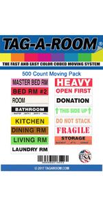 2 3 bedroom moving labels