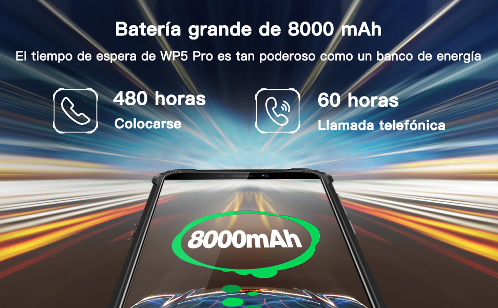 8000mAh Móvil Libre Resistente smartphone