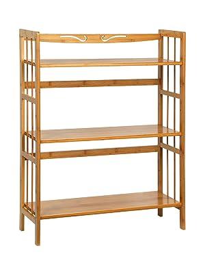 bamboo storage shelf