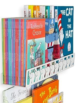 legos robinson cruise captain america Floating shelf white Hanging bookshelves for kids