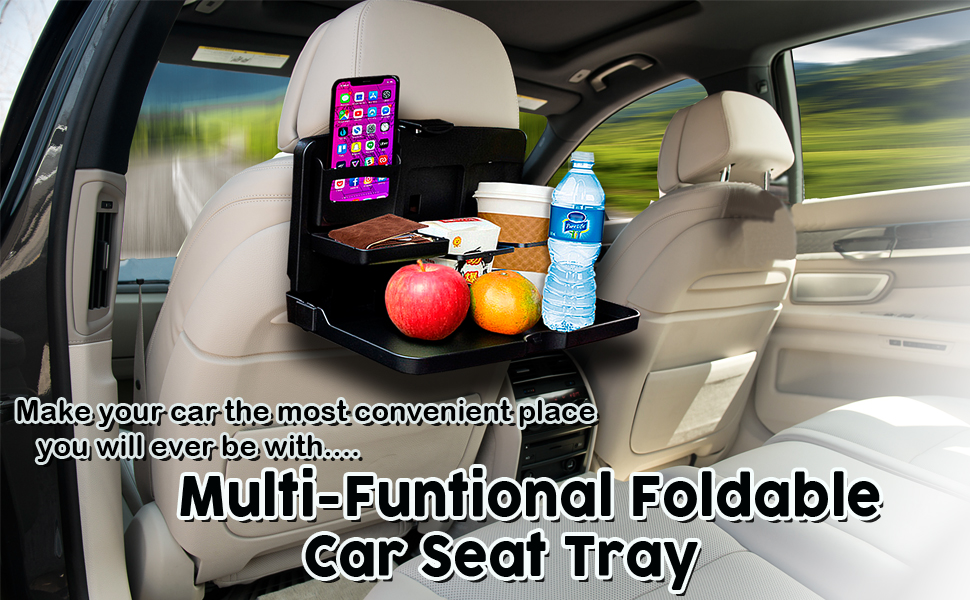 Multi-Functional Portable Fold able Car Seat Tray