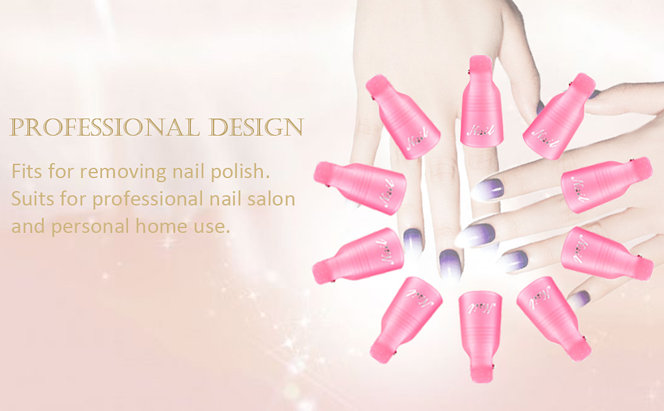 Nail polish remove clips for women