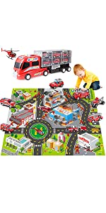 fire vehicle toy play set