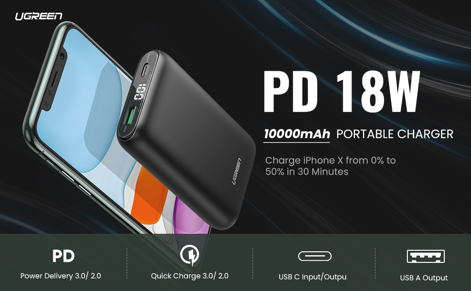 PD Power Bank 18W Fast Charging
