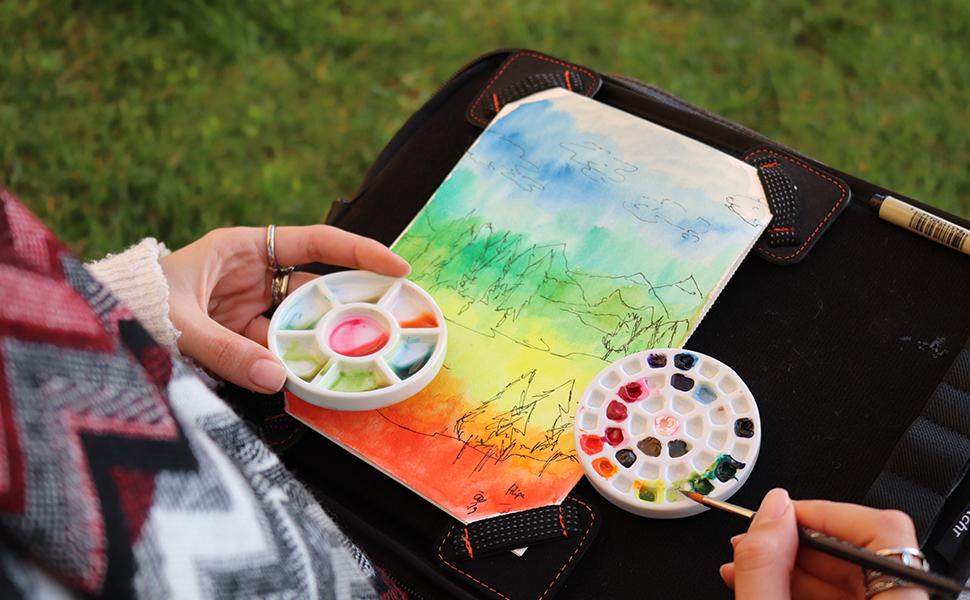 etchr mini palette a watercolorist's best friend