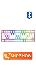 DK63 white Mechanical Gaming Keyboard