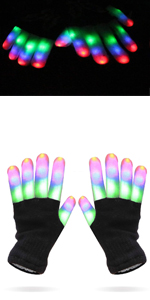 kids led gloves