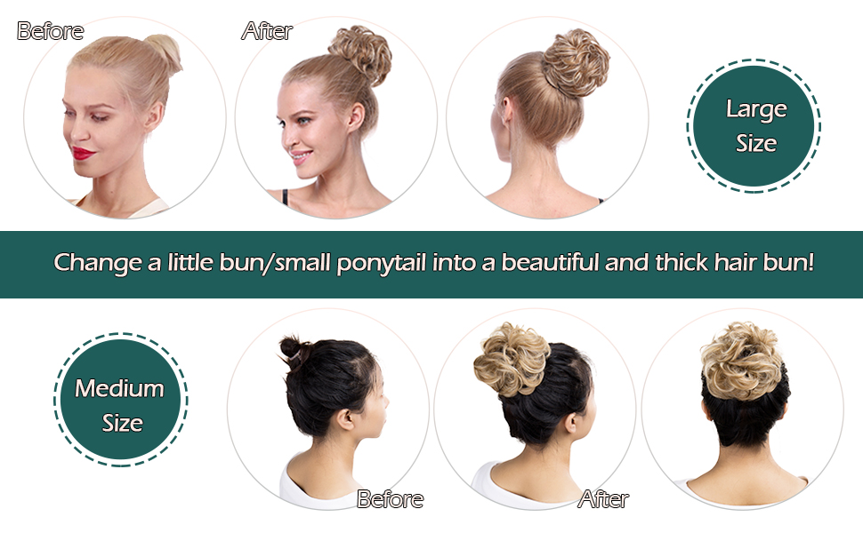 help you change a little bun/small ponytail into a beautiful thick hair bun