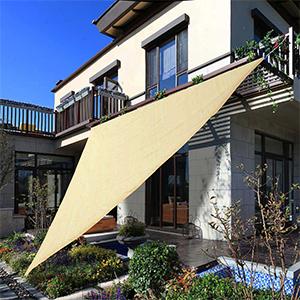 patio porch shades sail-backyard deck sun sail fabric-HDPE water premeable heavy duty material