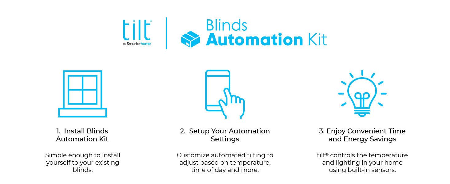 smart blinds automated home smartphone app controlled Bluetooth home automation