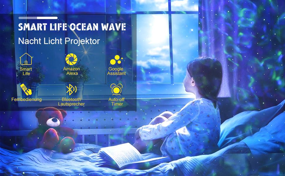 ocean wave nacht licht