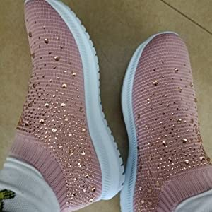 PINk gray women shoes round toe comfort