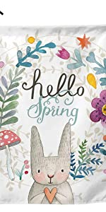 YISHOW Hello Spring Bunny Tulip Flowers