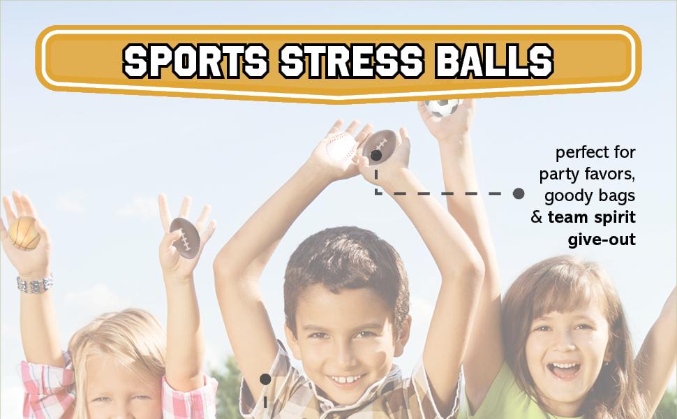 sports theme stress balls