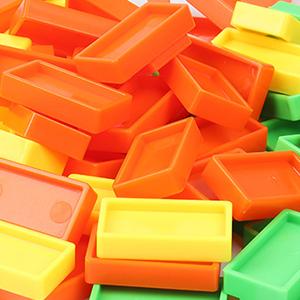 High quality and durable Domino Train Blocks Set bulk dominoes,giant plastic dominoes,