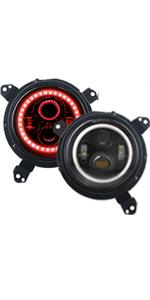 JL red halo headlight
