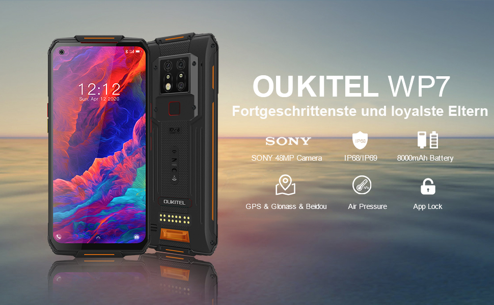 oukitel wp7 outdoor smartphone