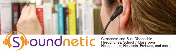 Classroom disposable school student library tour museum headphones
