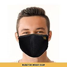 EUME 95 face mask men women adjustable nose clip face mask 4 layer washable mask reusable face mask