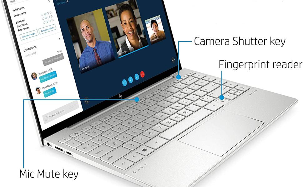 Keyboard Cover for 2020 HP Envy X360 13.3 inch Laptop with Fingerprint Reader