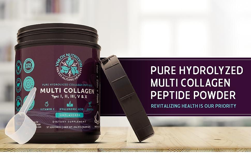 Pure Hydrolyzed Multi Collagen Peptide Powder