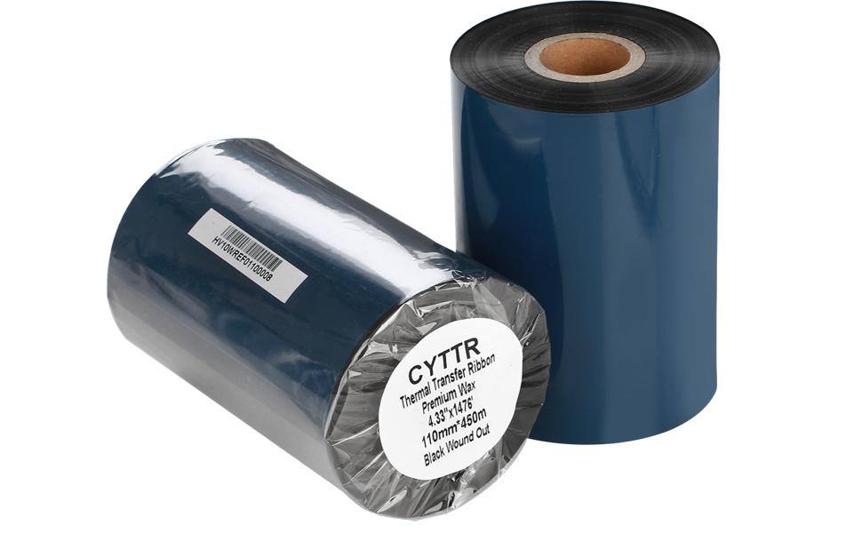 thermal transfer ribbon premium wax 4.33''x1976quot;