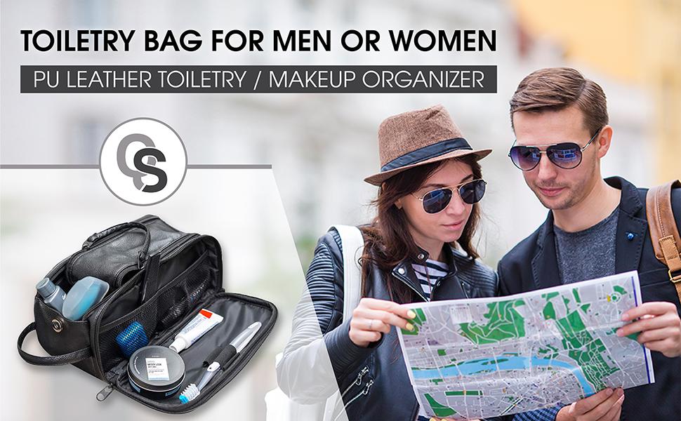 toiletry bag travel portable make up cosmetics men women camping hiking shaving dopp kit organizer