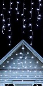 360 LED Christmas Icicle Lights, Cool White