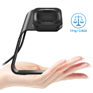 Black CAVN Charger Dock Compatible with Fitbit Versa 3 Replacement Charger Cable USB Charger Dock for Sense//Versa 3 Fitbit Sense Charger