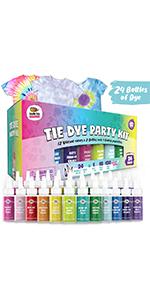 24 Pack Tie Dye Party Kit