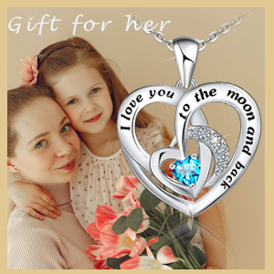 women heart necklace heart necklace for women girls l love you to the moon and back necklace