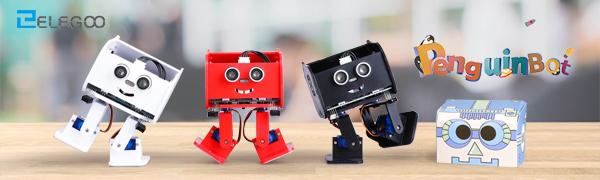 ELEGOO Penguin Bot Biped Robot Kit with Assembling Tutorial