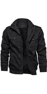 military cotton fleece jacket