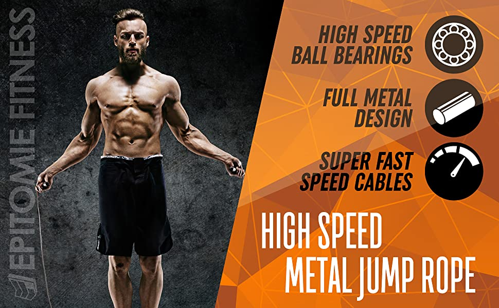 Speed Jumping Rope Fitness Erwachsene Sport Springseil Training Speed Cr WG