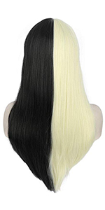 long straight two tones wigs
