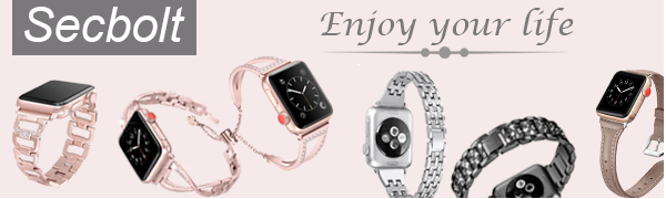 Secbolt Bling Bands Apple Watch 38mm 40mm Iwatch Series 4/3/2/1 Women Jewelry Bracelet Bangle